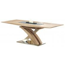 Stół rozkładany Eric III 160(220)x90, biały/dąb sonoma