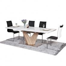 Zestaw stół rozkładany Alkas i 8 krzeseł Olimpia