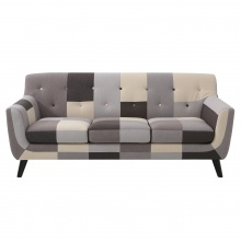 Sofa trzyosobowa Patchwork grey mix