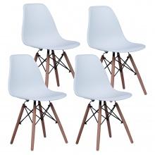 Krzesła Ego, białe, tworzywo sztuczne, komplet 4 sztuki