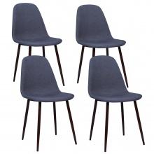 Krzesła Nord, ciemnoszare, tapicerka, komplet 4 sztuki