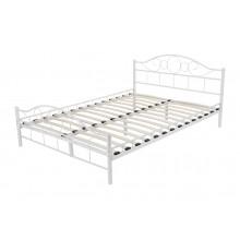 Łóżko metalowe Valeria 160x200 białe