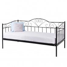 łóżko Metalowe Linnea 90x200 Czarne