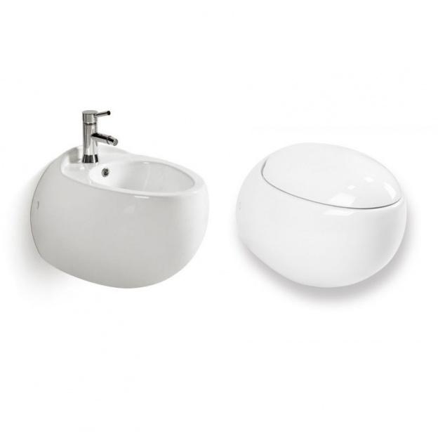Zestaw miska WC z bidetem Noah ceramika łazienkowa deska wolnoopadająca
