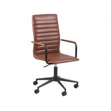 Fotel biurowy obrotowy Winslow brązowy