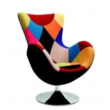 BUTTERFLY fotel wypoczynkowy czarno - popielaty (1