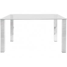 Stół do jadalni Kante 140x90 cm szklany blat