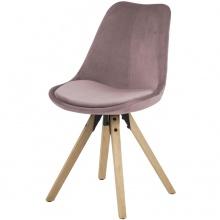 Krzesło tapicerowane Hank szaredąb scandi krzesło do jadalni