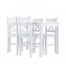 Zestaw stołowy Corbin stół i cztery krzesła biały