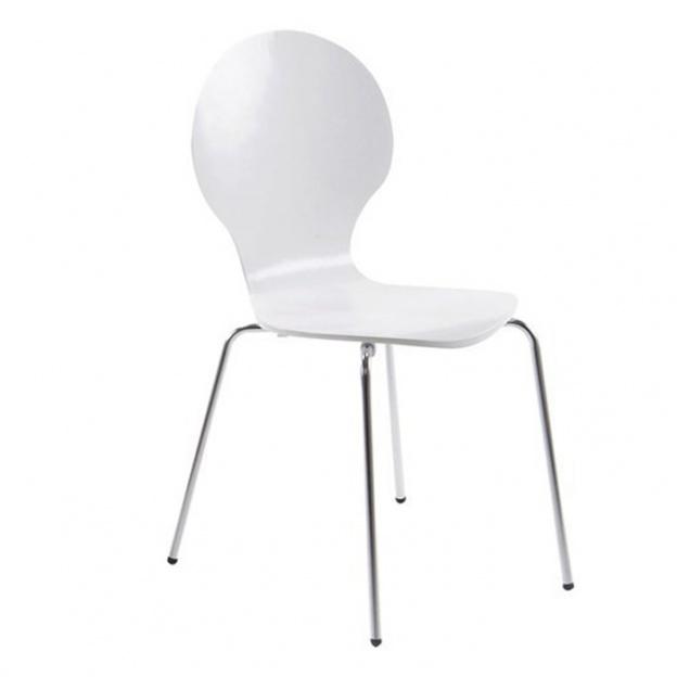 Bardzo dobra Krzesło do kuchni Marco nowoczesne białe metalowe nogi RF66