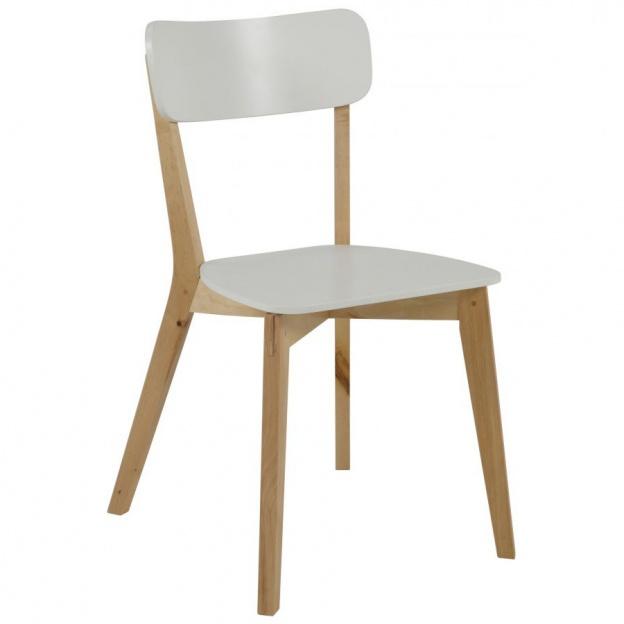 Krzesło Raven drewniane białe