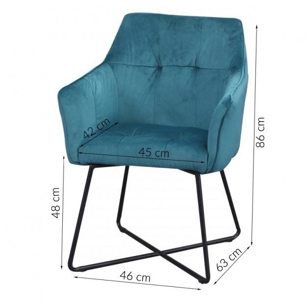 krzeslo-loft-turkusowe-welur