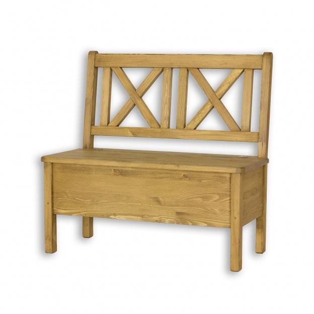 Unikalne Drewniana sosnowa woskowana ławka z oparciem prowansalska Cevilo BC53
