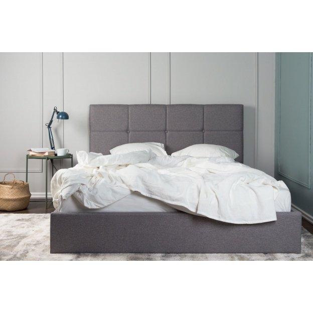łóżko Tapicerowane Allana 160x200 Cm Szare