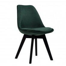 Krzesło welurowe Mogar zielone