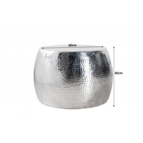 stolik-srebrny-hammerschlag-60cm