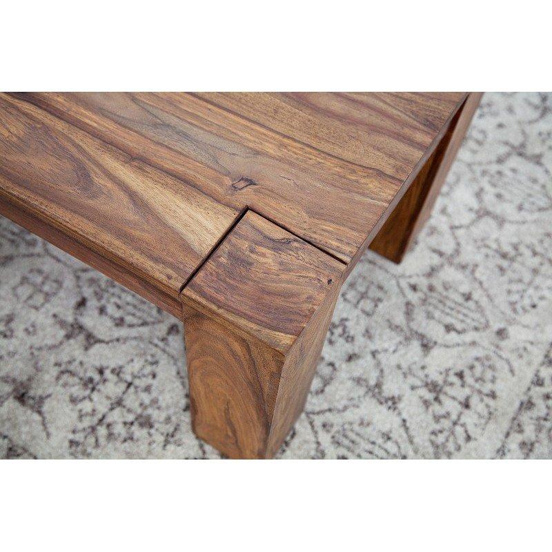 ława Drewniana Do Salonu Laros 100 Cm Drewno Sheesham