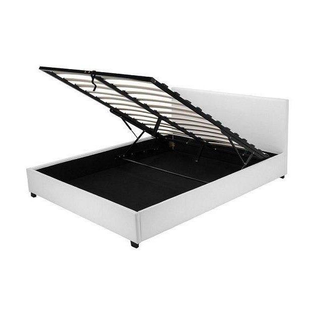 łóżko Z Pojemnikiem Veronica 140x200 Białe