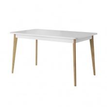 Stół rozkładany Prato 140-180x80 cm biały