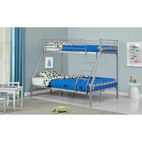 łóżko Piętrowe Metalowe Teofil Szare