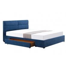 Łóżko z szufladą Apato 160x200 niebieskie podwójne