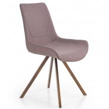 Krzesło do jadalni Avena szare/złoto antyczne glamour