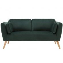 Sofa dwuosobowa Catlyn butelkowa zieleń welur