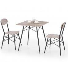 Zestaw kuchenny Faust II stół + 2 krzesła dąb san remo