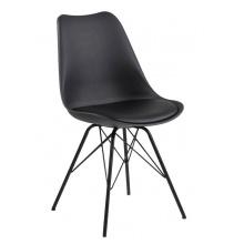 Krzesło skandynawskie Eris czarne