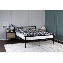 Łóżko metalowe Janeta 160x200 czarne