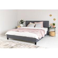 Łóżko tapicerowane Talama 160x200 szare ze stelażem