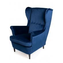 Fotel uszak Emilia niebieski