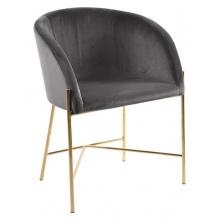Krzesło tapicerowane Nelson szare